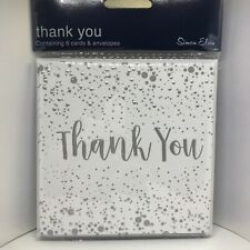 Wedding Thank You Cards Pack of 6 With Envelopes. by Simon Elvin Cards.