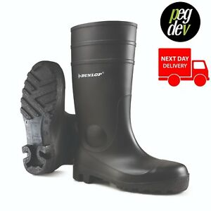 PROTOMASTER FULL SAFTEY BLACK WELLY WELLINGTON BOOT WELLIES SIZES 3-13 HG142PP