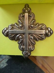 1983 Reed Barton Sterling Silver Christmas Cross Ornament Pendant Decoration