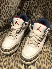 Air Jordan 3 Retro OG BG True Blue III Sneakers White 854261-106 Size 6Y