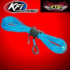 "KFI SYN19-B50 3/16"" Synthetic 50' ATV Winch Cable (Blue) for 3500lb Winches"
