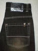 Southpole Loose Fit Straight Leg Mens Black Denim Jeans Size 29 X 28.5 Mint