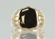 18ct Yellow Gold Heavy Antique Gents Signet Ring REF885