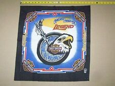 Vintage HARLEY DAVIDSON MOTORCYCLES BAR SHIELD EAGLE FRONT WHEEL Bandana Scarf