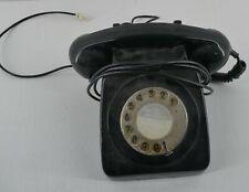 Vintage GPO746F Black Rotary Dial Phone (E15)