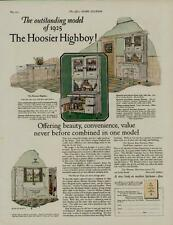 1925 HOOSIER HIGHBOY KITCHEN CABINETS AD / MODEL OF 1925