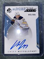 2018-19 SP AUTHENTIC FUTURE WATCH ROOKIE #/999 AUTO CASEY MITTELSTADT RC