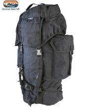 Black Tactical Kombat Rucksack 60 Litre Bergen - Army Cadet Military Hiking