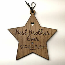 Best Number 1 Brother Sister Personalised Wooden Plaque Birthday Sibling Gift