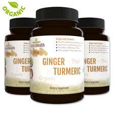 270 Turmeric & Ginger Capsules - Circulatory Antioxidant Cholesterol 500 mgs