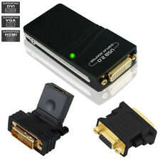 USB2.0 UGA to HDMI DVI VGA Multi Display Monitor MAC Adapter Converter PC 1080P
