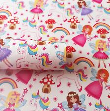 Designer Singing Angel Fairy Heaven Quilting Cotton Fabric Curtain Upholstery