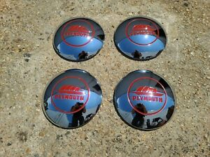 "1946 1947 1948 PLYMOUTH SET OF FOUR 10"" HUB CAPS 46 47 48 BRAND NEW PARTS P15"