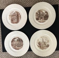 New ListingFour Vintage Wedgewood Brown University Commemorative Plates
