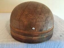 wooden block round fascinator   /MILLINERY WOOD BLOCK HAT MAKING /FORM/MOLD/BRIM