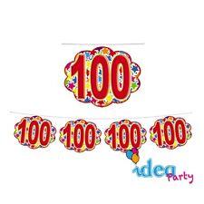 FESTONE Nuvolette 100 ANNI - addobbi festa a tema 100° Compleanno - 4 m