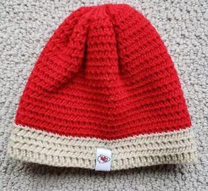 Kansas City Chiefs Red & Tan Infant Knit Beanie NWT