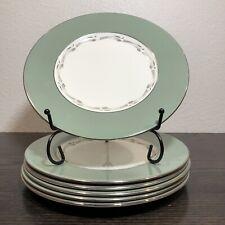 "Wedgwood Bone China Halford Pattern Silver Edge Set of 6 8"" Salad/Dessert Plate"