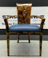 Maitland-Smith, Coconut Shell Veneered Arm Chair, Circa 1980's