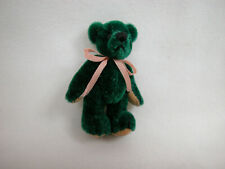 "World Of Miniature Bears Dollhouse Miniature 1.5"" Bear #206 Green CLOSINg"