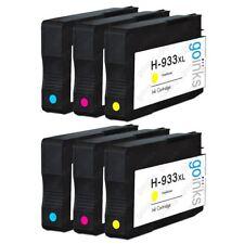 6 C/M/Y Ink Cartridges for HP Officejet 6100 6600 6700 7110 7510 7610 7612