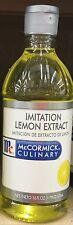 16oz McCormick Imitation Lemon Extract