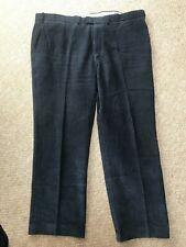 M&S XXL Cord Trousers 44inch waist navy blue 100% cotton 31 inch trouser leg