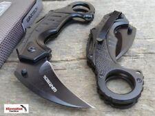"Wartech 6"" Black Spring Assisted Tactical Karambit Folding Blade Pocket Knife"