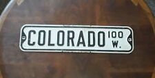Vintage 1930-40's Colorado Springs Colorado Ave Street Sign Rare Advertising