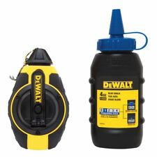 DeWalt 100ft 3:1 Chalk Line WITH 4oz 113g Blue Chalk for Marking Out