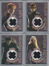 "2000 X-Men (Movie) SET OF 4 ""Costume/Memorabilia"" Chase Cards WOLVERINE/STORM..."