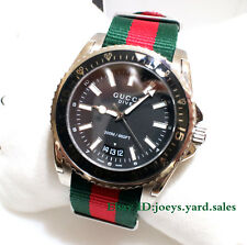 Gucci Dive Black Dial Red and Green Nylon Men s Watch YA136206 a5b2a64d56
