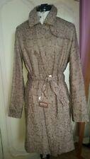 YARELL byGreenstone Vintage Ladies  Trench/Rain Coat Bronze Python Print Size 36