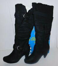 DE Blossom Genova Tall Black Boots Size 7 Brand New