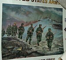 POSTER 1994 Freedom is Not Free US ARMY Korea 1950-53 Signed Jim Ryan