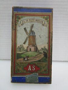 Antique Packaging Full Box of Spools Fil Au Petit Moulin 48 Pelotes Thread 800 +