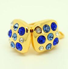 oro y Azul Piedras con diseño Gemelos Para Boda