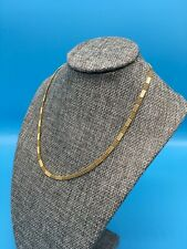 """Milros Italy 14K 585 Yellow Gold Necklace 17"""" Chain Rare Pattern"""