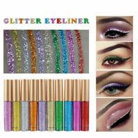 Shiny Smoky Blinkende Liquid Eyeliner Lidschatten Waterproof Glitter Neu