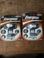 2 x Energizer Universal Headlight 60 Lumens LED Headlamp Head Torch