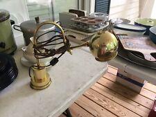 Vitage Brass Desk Lamp~Works~