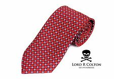 Lord R Colton Basics Tie - Red Pearl & Navy Woven Necktie - $49 Retail New