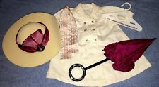 American Girl Samantha Travel Outfit Set with Duster, Hat, Ribbon, Parasol!