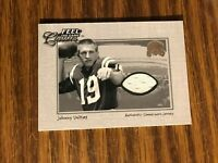 2000 Fleer Greats of the Game Johnny Unitas Baltimore Colts Used Jersey NrMt