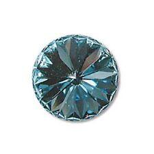 Czech Swarvoski Crystal 1122 12MM AQUA FOILED Single Beads