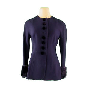 Gianfranco Ferre Coats Jackets Navy Black Woman Authentic Used H519