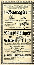 Hermann Zimmermann Chemnitz Gasregler Dampfzwinger Historische Annonce 1918