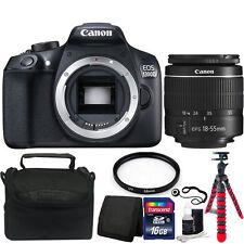 Canon EOS Rebel 1300D/T6 18MP DSLR Camera with 18-55mm Lens + Accessory Bundle