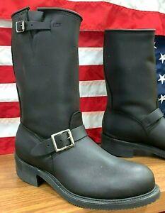 "Carolina Steel Toe New 12"" Rebel Men Motorcycle Engineer Made In USA Boots #115"