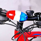 Super Loud Bike Police Car 6 LED Light 4 Sounds Trumpet Cycling Horn Bell Siren